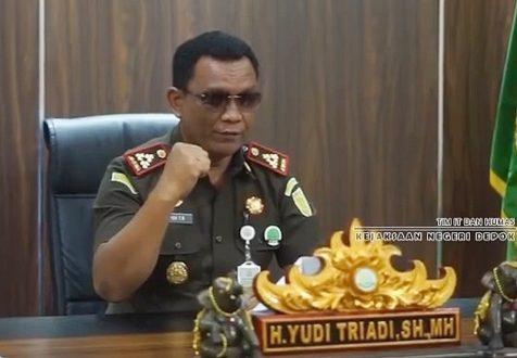 Kepala Kejaksaan Negeri (Kejari) Depok H. Yudi Triyadi SH,MH