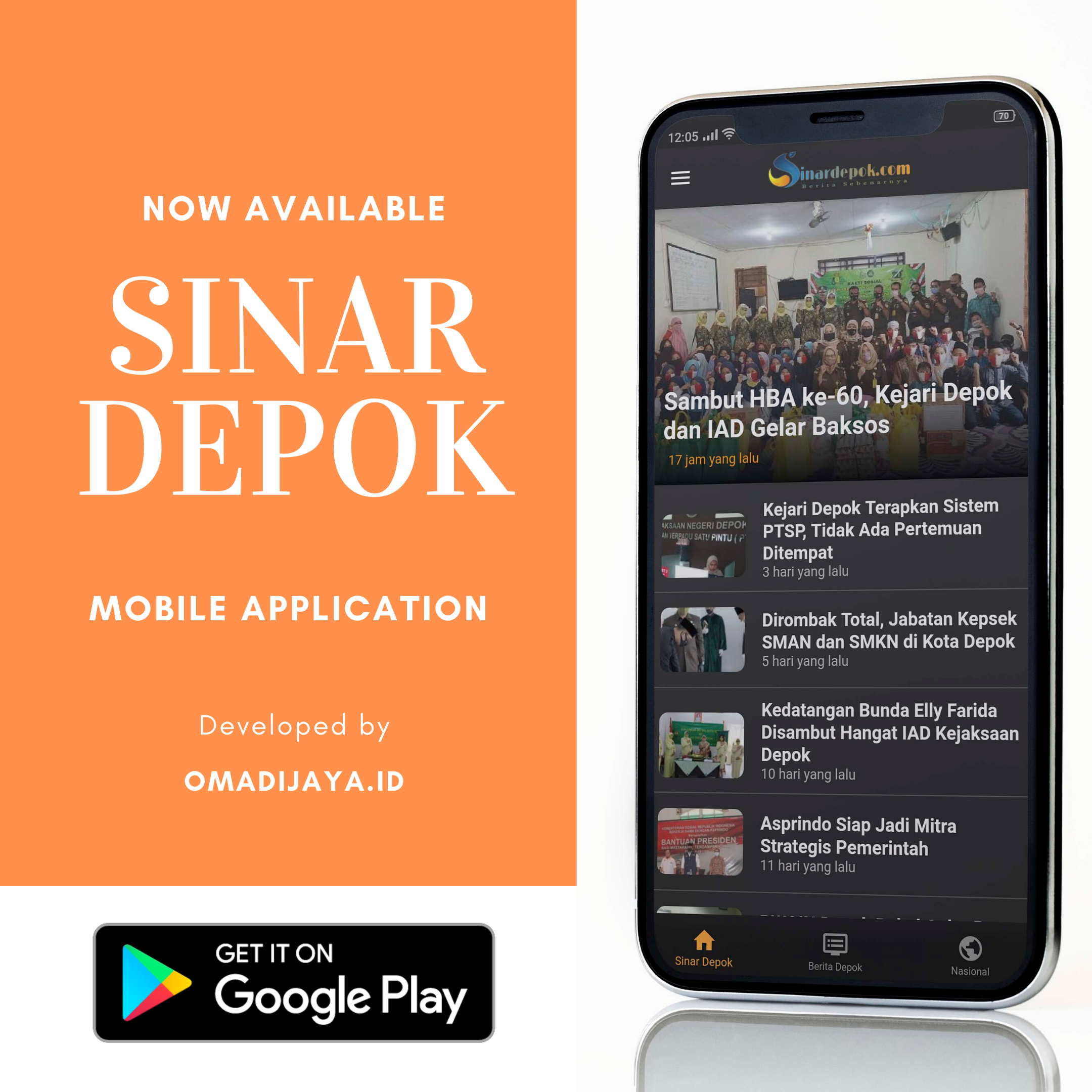 Sinar Depok Android Application